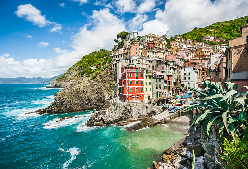 Riomaggiore Fisherman Village In Cinque Terre Liguria Italy Stock Photo - Download Image Now