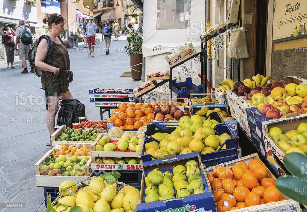 Riomaggiore Fruit Market stock photo