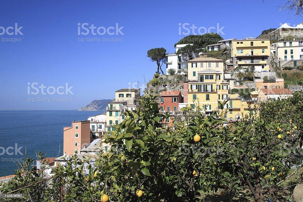 Riomaggiore, Ligury, Italy royalty-free stock photo