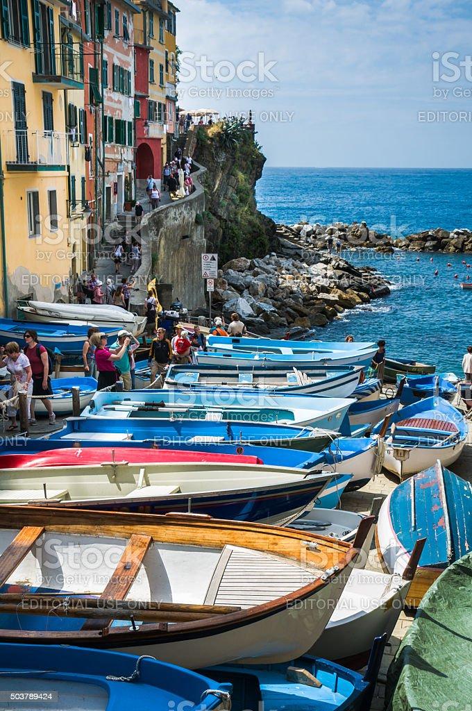 Riomaggiore Marina stock photo