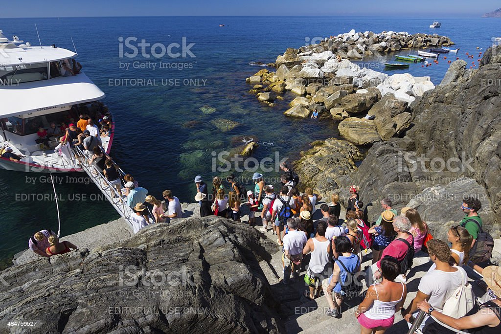 Riomaggiore on the Cinque Terre, Italy stock photo