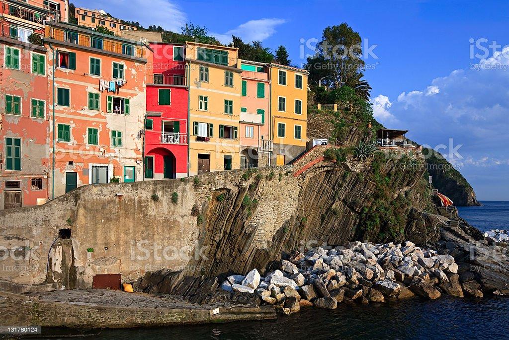 Riomaggiore village, Italy royalty-free stock photo