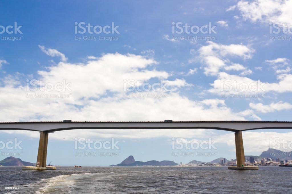 Rio-Niteroi bridge royalty-free stock photo