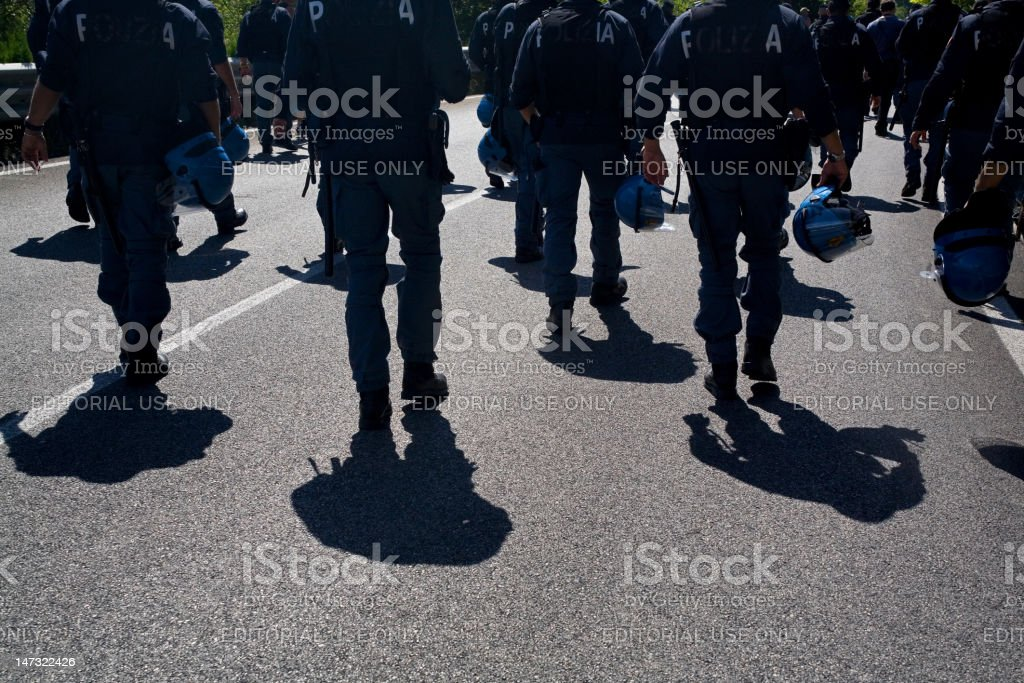 Riot cops royalty-free stock photo