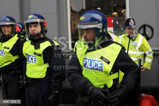 istock Riot Police in London 458735873
