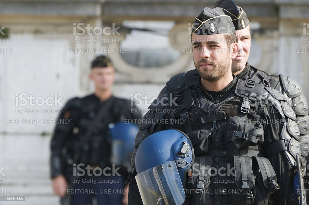 Riot Police Officer royalty-free stock photo