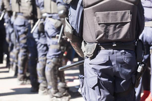 Bereitschaftspolizei im Einsatz – Foto
