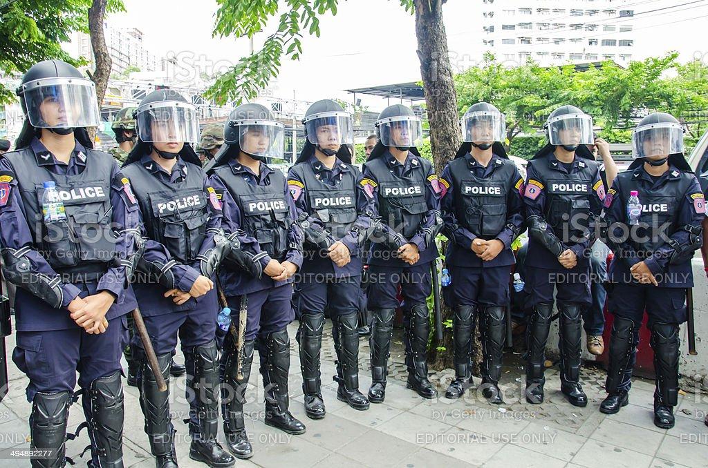 Riot police stock photo
