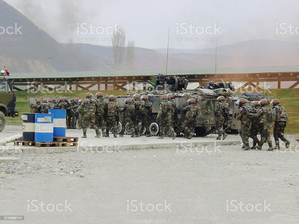 Riot suppression stock photo