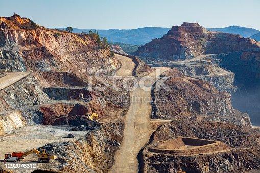 Riotinto mine in springtime sunny day