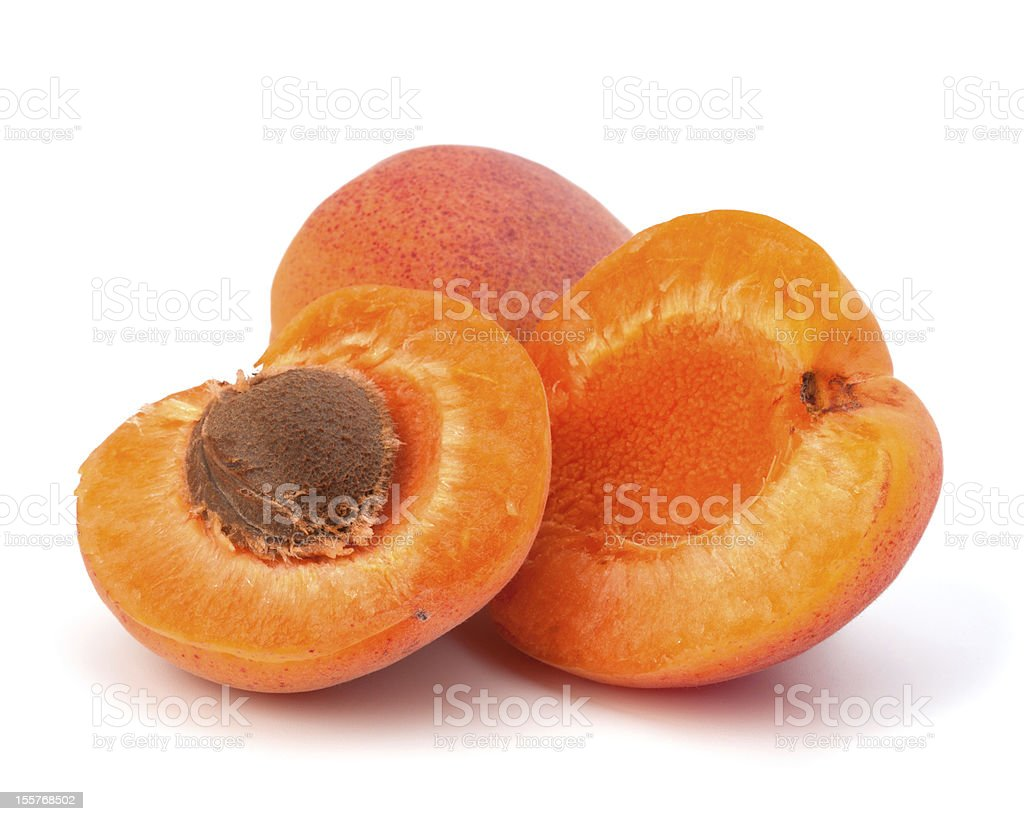 Ripe apricot fruit royalty-free stock photo