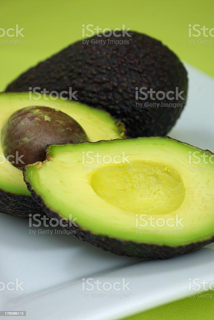Ripe avocados ready to eat stock photo