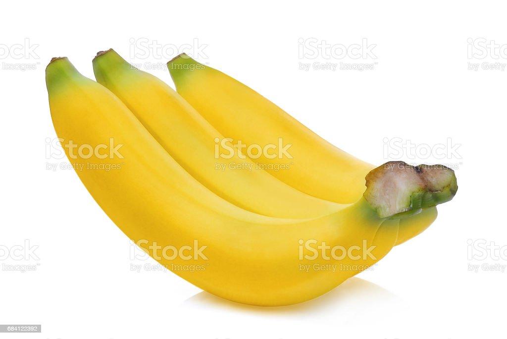 ripe banana isolated on white background foto stock royalty-free