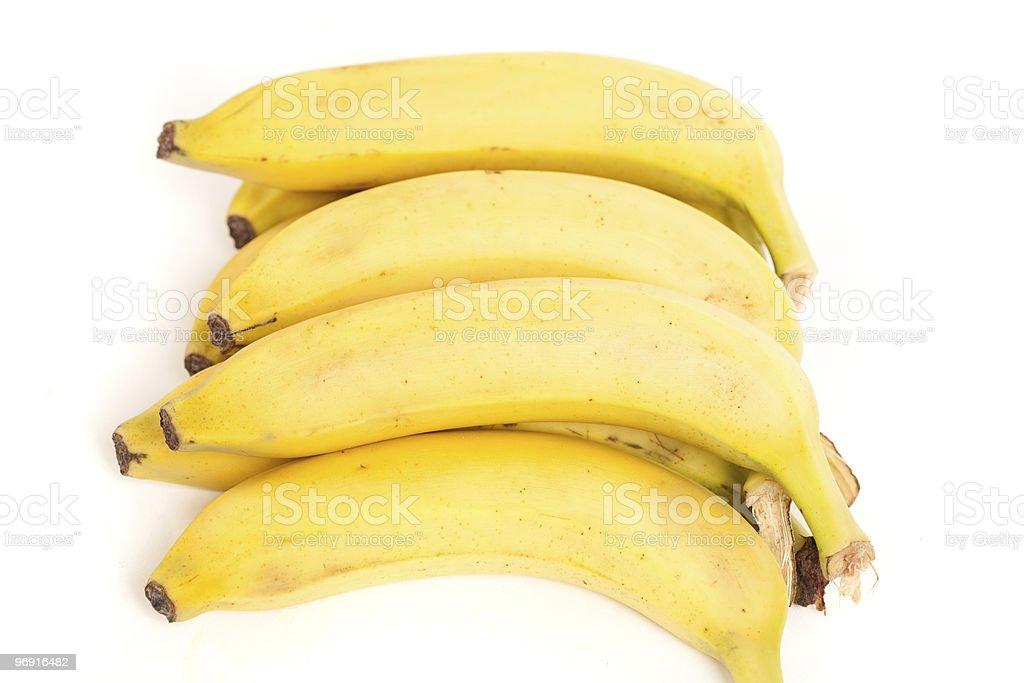 Ripe bananas isolated on white royalty-free stock photo
