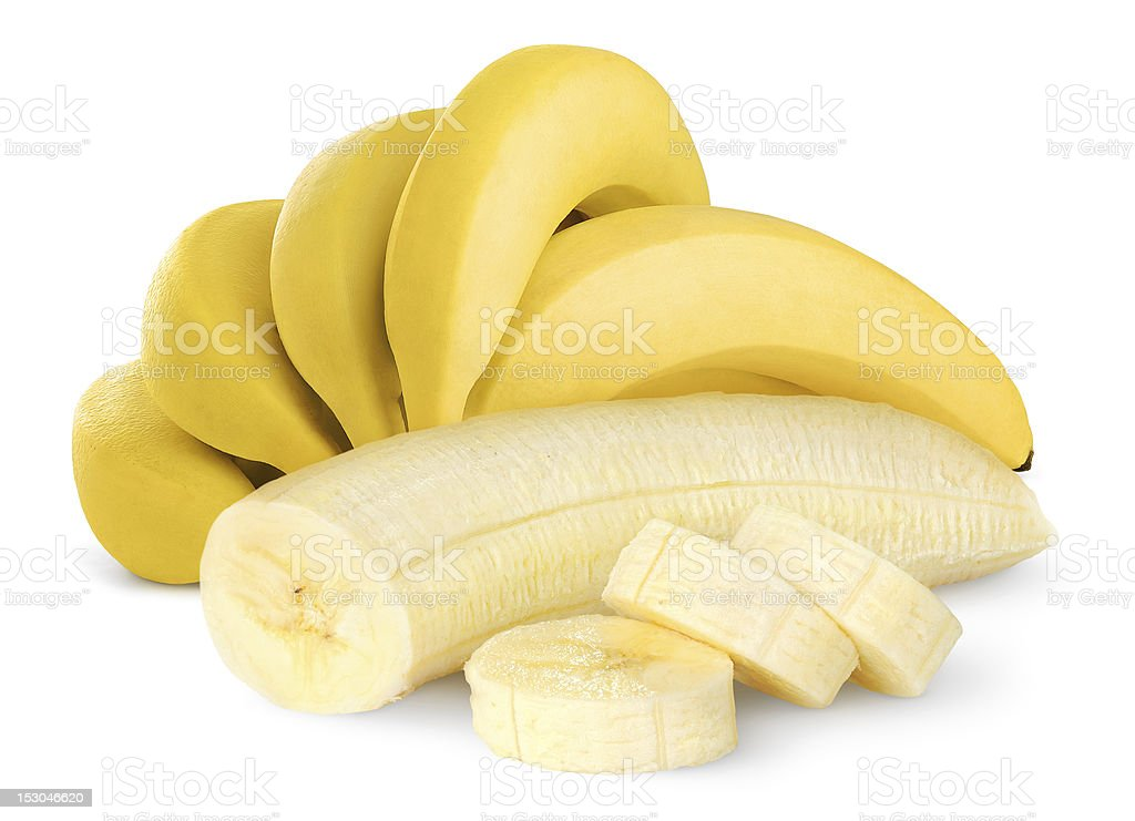 Ripe bananas stock photo