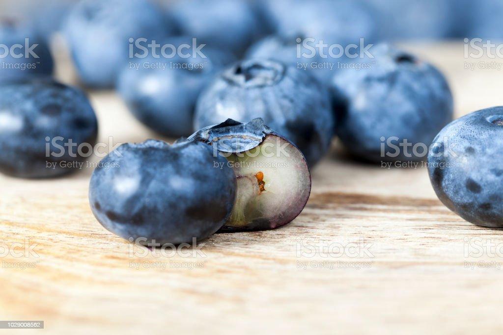 ripe blueberry berries stock photo