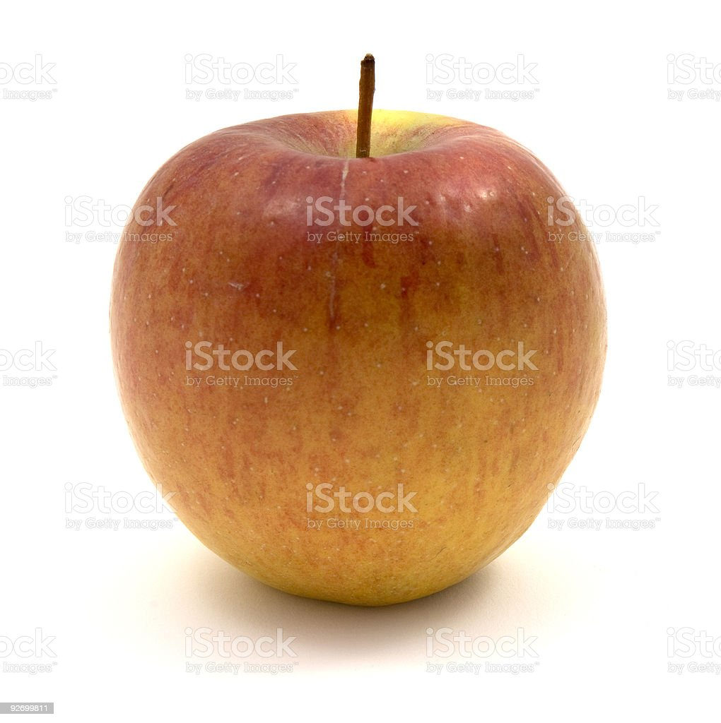 Ripe Braeburn Apple stock photo