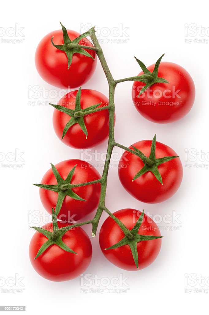 Ripe cherry tomatoes stock photo