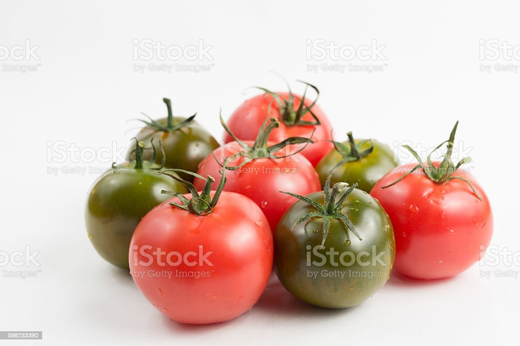 Ripe colorful red and green kumato tomatoes foto royalty-free