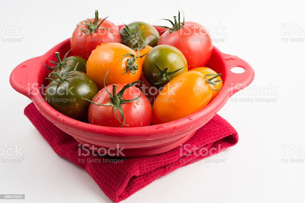 Ripe colorful red, yellow and green kumato tomatoes foto royalty-free