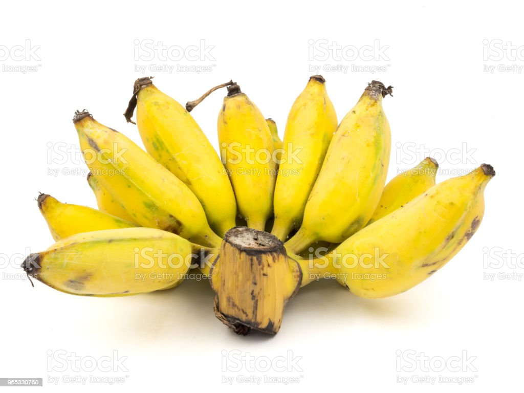 Ripe cultivated banana on a white background zbiór zdjęć royalty-free