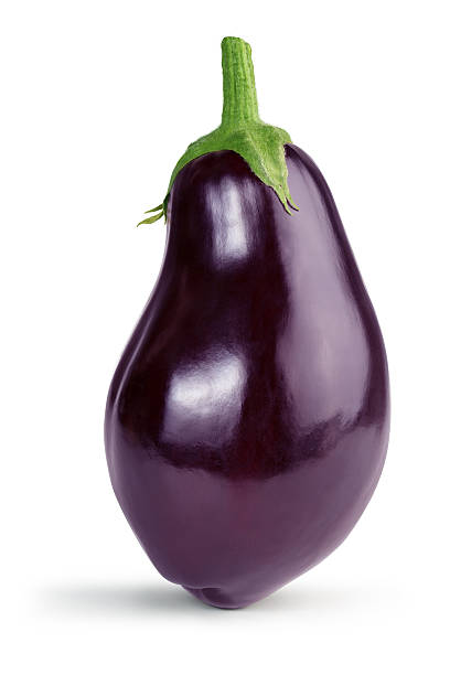 ripe eggplant stock photo