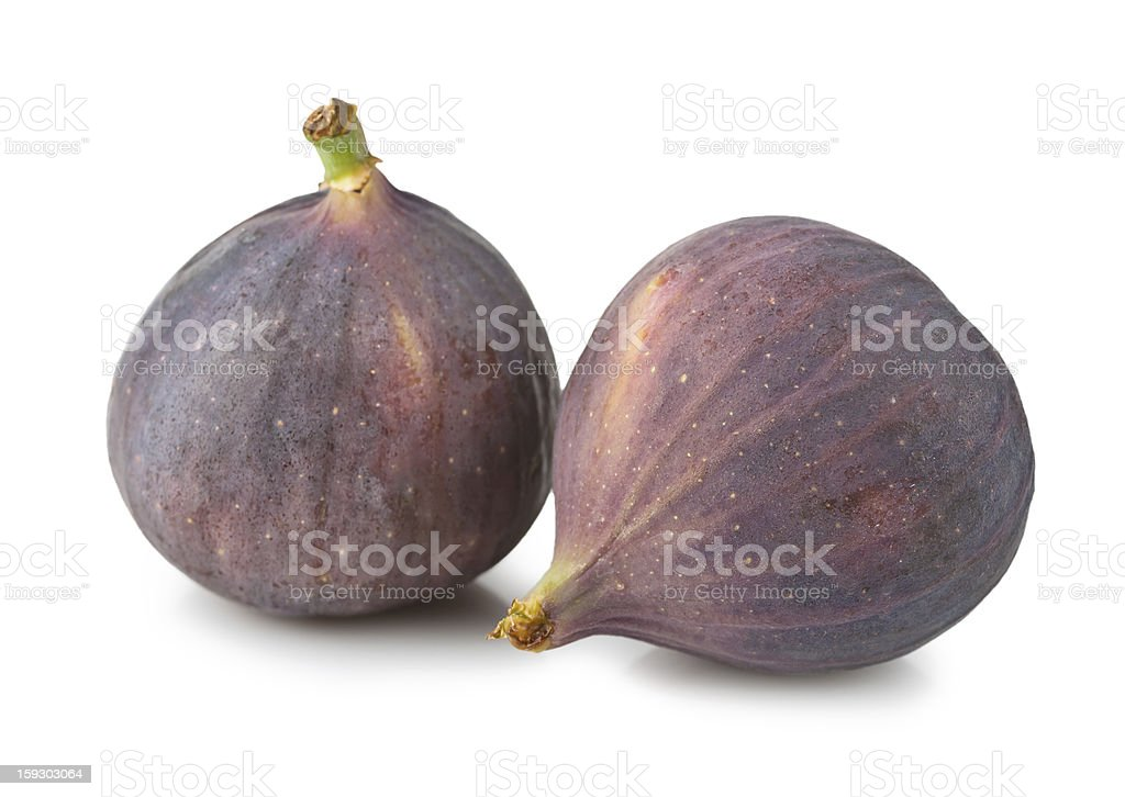 Ripe figs isolated royalty-free stock photo