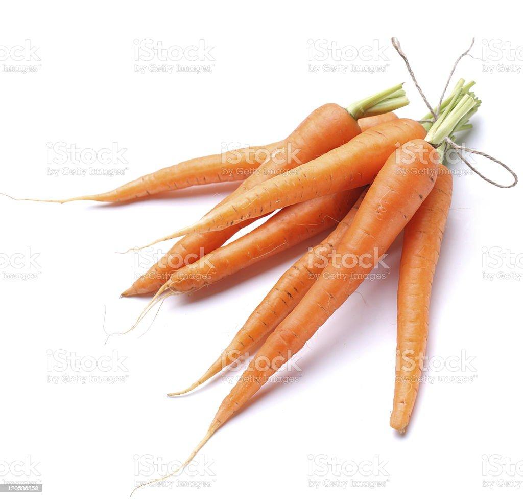 Ripe fresh carrots royalty-free stock photo