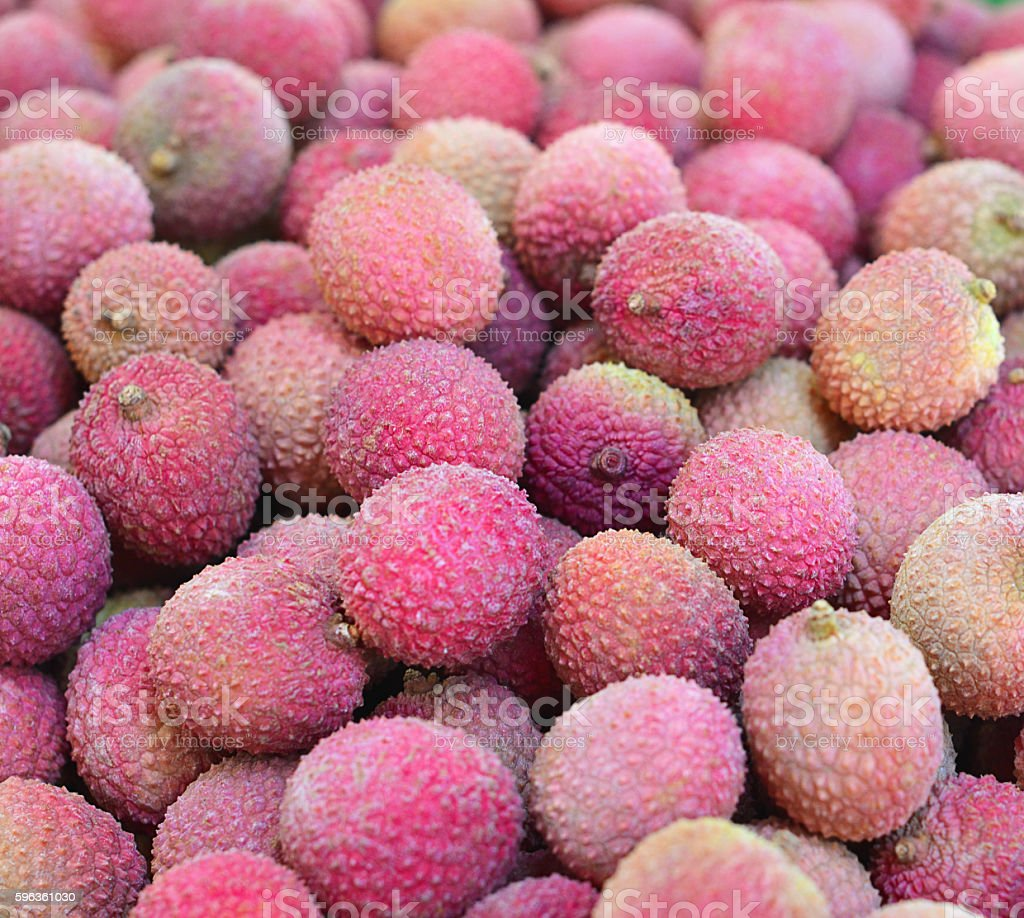 Ripe fruit lychee closeup royalty-free stock photo