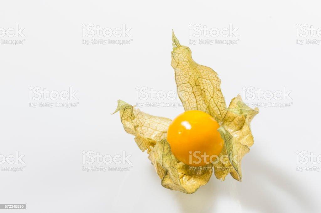 Ripe fruits of cape gooseberry stock photo