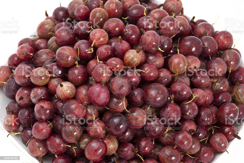 Ripe gooseberries royalty-free stock photo