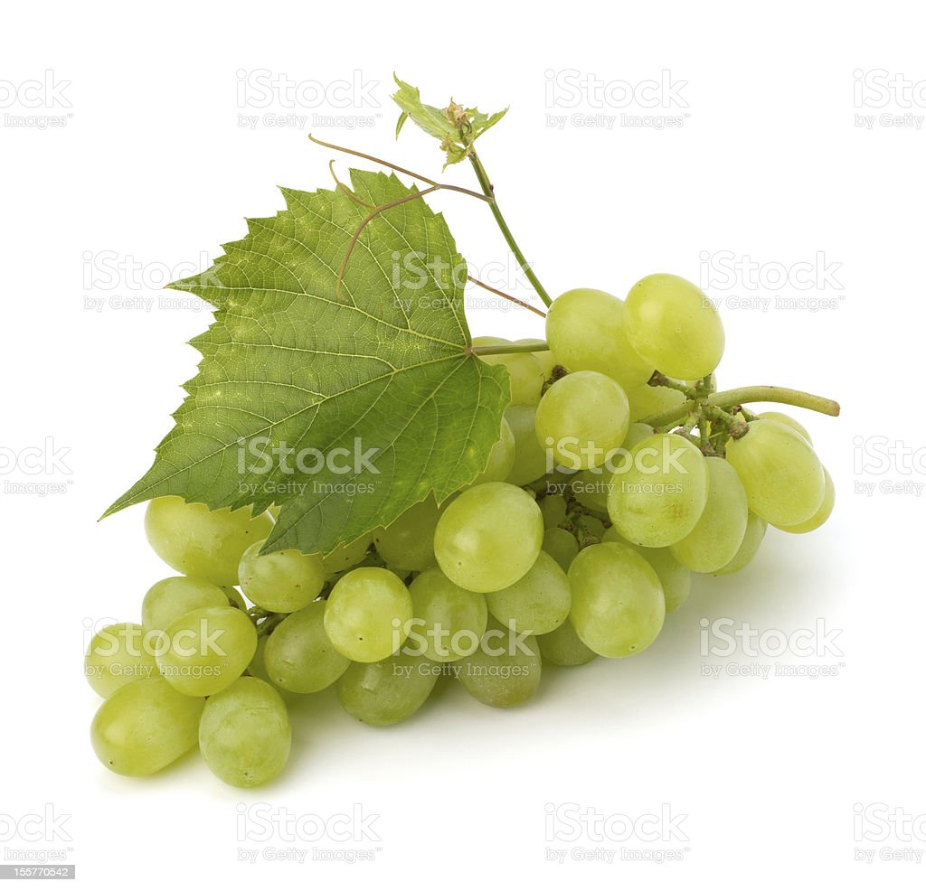 Ripe grape whith leaf royalty-free stock photo