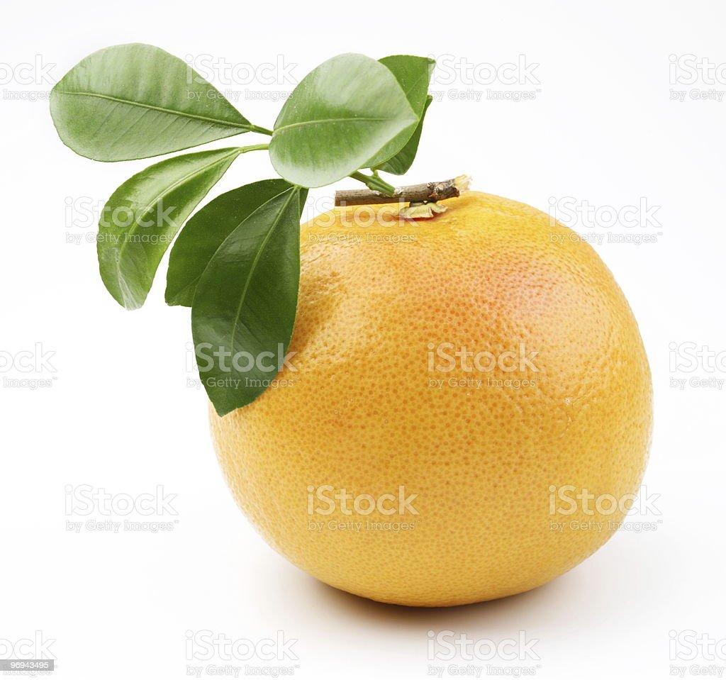 Ripe grapefruit on a white background royalty-free stock photo