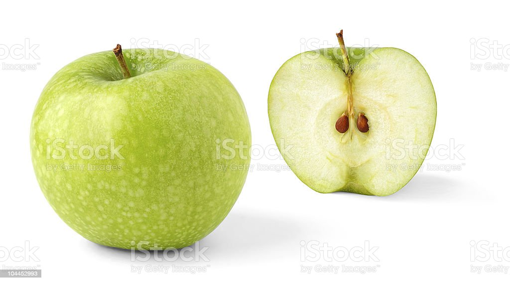 Ripe green apple stock photo
