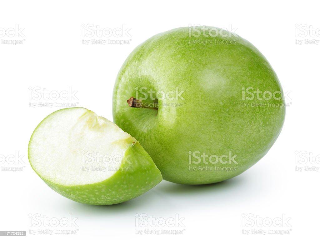 ripe green apple stock photo
