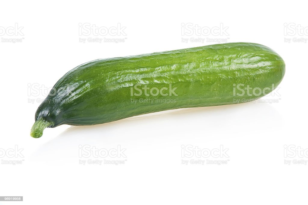 Ripe Green Cucumber Isolated royalty-free stock photo