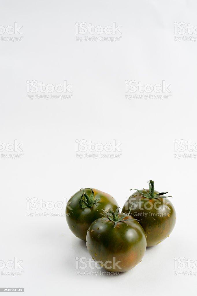 Ripe green-brown kumato tomatoes foto royalty-free