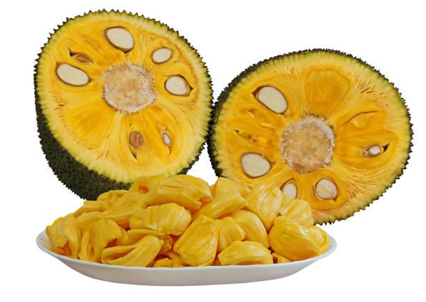 reife jackfruit - jackfrucht stock-fotos und bilder
