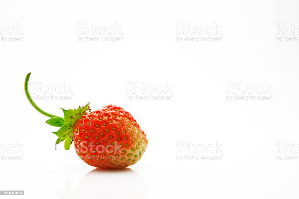 Ripe, juicy and appetizing strawberries stock photo