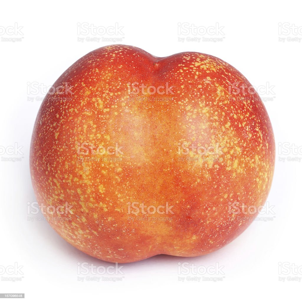 Ripe juicy nectarine isolated royalty-free stock photo