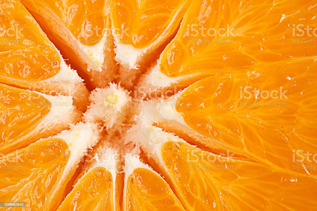 Ripe Juicy Orange stock photo