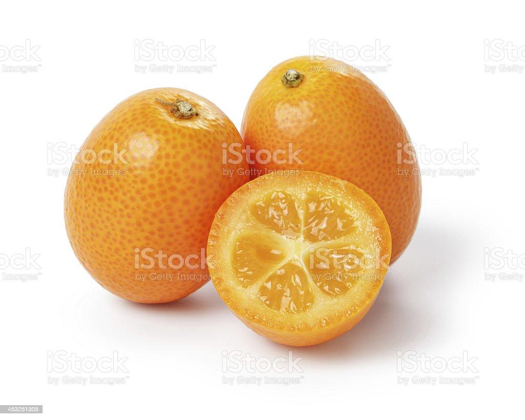 ripe kumquat fruits stock photo