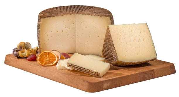 Ripe Manchego Cheese stock photo