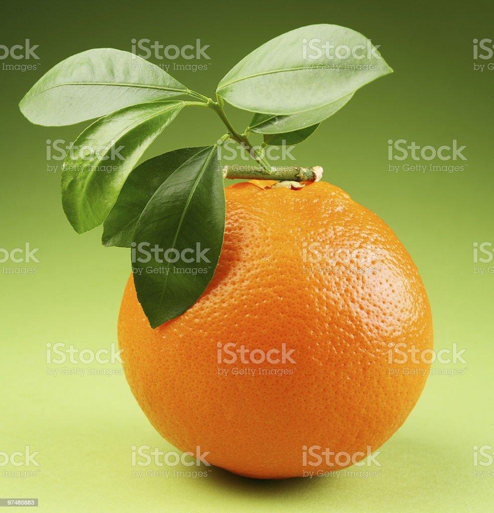 Ripe orange royalty-free stock photo