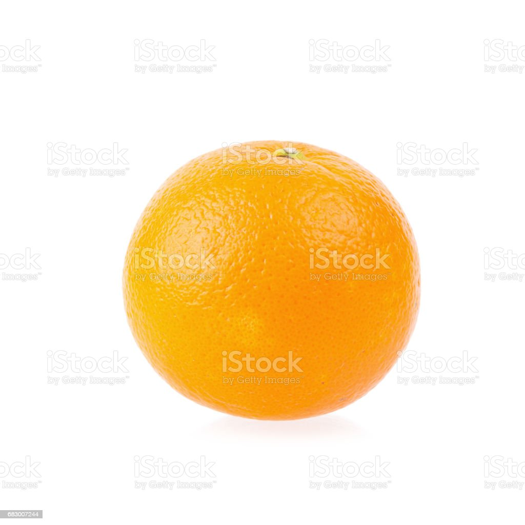 Ripe oranges isolated on white background. Orange in a cut royalty-free stock photo