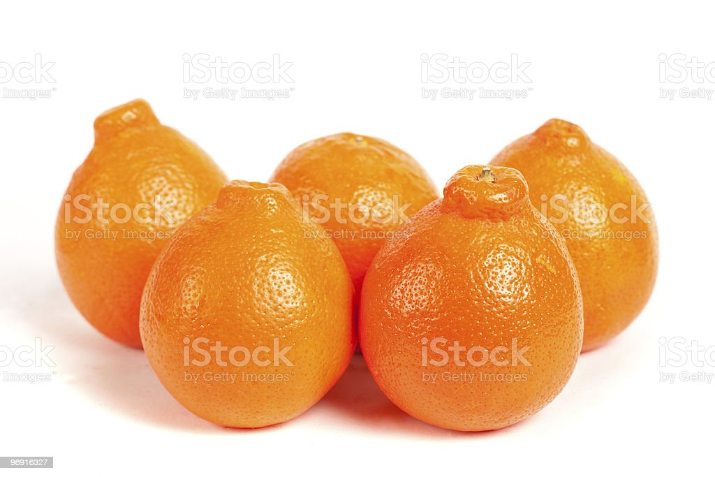Ripe oranges isolated on white background royalty-free stock photo