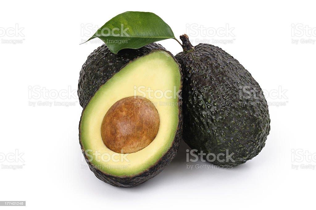 Ripe Organic Avocado stock photo