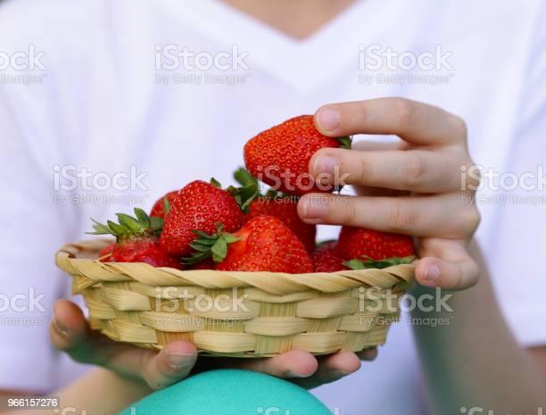 Ripe Organic Strawberry — стоковые фотографии и другие картинки Весёлый