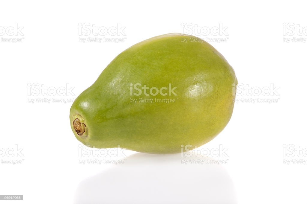 Ripe papaya isolated on white background royalty-free stock photo