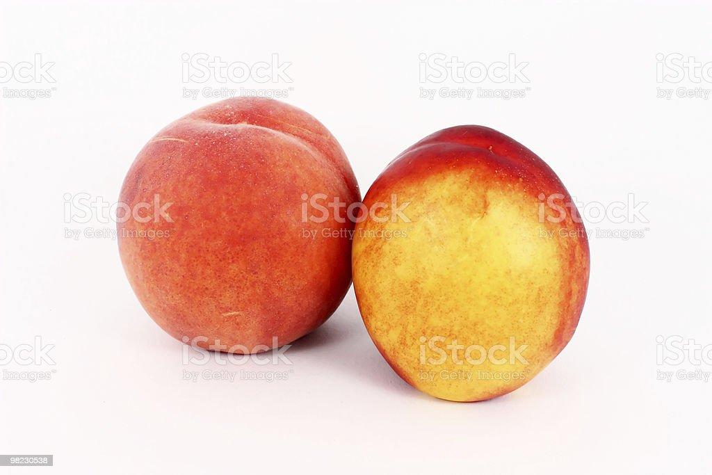 Ripe peach and nectarine royalty-free stock photo